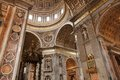 St peters basilica interior detail of the vatican rome italy Royalty Free Stock Photography
