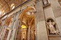 St peters basilica interior detail of the vatican rome italy Stock Photography