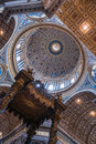St peters basilica interior rome italy Stock Photo