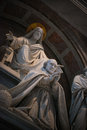 St peters basilica interior rome italy detail of the monument to pius viii by pietro tenerani Royalty Free Stock Photography