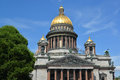 St petersburg fragment of st isaac s cathedral in summer day Stock Images
