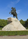 St. Petersburg, monument to king Peter I Stock Photos