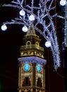 St. Petersburg, Nevsky Prospekt night, Russia Royalty Free Stock Photo