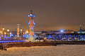 St-Petersburg, Russia in christmas illumination Stock Photography