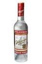 ST. PETERSBURG, RUSSIA - February 09, 2016: Bottle of Vodka Stolichnaya Stoli alc.40%, SPI Group Royalty Free Stock Photo