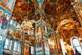 ST. PETERSBURG, RUSSIA FEDERATION - JUNE 29:Interior of Church Savior on Spilled Blood . Picture takes in Saint-Petersburg, inside
