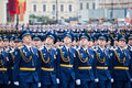St petersburg russia may military victory parade in the world war ii is spent every year on on palace square of Royalty Free Stock Photos