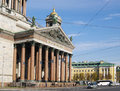 St petersburg russia october cathedral of st isaac of dalmatia s view portico west facade closeup Stock Image