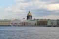 St petersburg a view of angliyskaya embankment from neva Stock Images