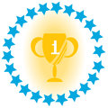 1st place Flat Vector Illustration. Royalty Free Stock Photo