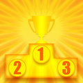 1st place winner Royalty Free Stock Photo