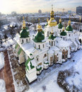 St Sophia cathedral in Kiev bird's eye Stock Photo