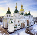 St Sophia cathedral in Kiev in winter Stock Images