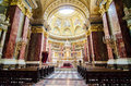St stephen cathedral interior of the basilica in budapest Stock Image