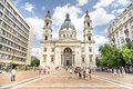 St stephen s basilica budapest hungary july exterior shot of a roman catholic in it is named in honour Royalty Free Stock Image