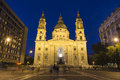 St stephen s basilica budapest hungary july night shot of a roman catholic in it is named in honour of Royalty Free Stock Photos