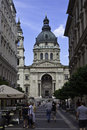 St stephen s basilica budapest hungary july tourists in front of on july in budapest hungary it is the third largest church Stock Photography