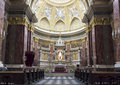 St. Stephen's Basilica, central part with altar Royalty Free Stock Photo