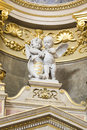 St. Stephen's Basilica interior with statue Royalty Free Stock Photo