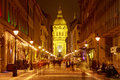 St. Stephen's Basilica night view Royalty Free Stock Photo