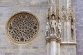 St stephen s cathedral vienna austria a rose window catherine window and exterior detail at stephansdom Stock Image