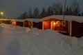 Stöten in sälen in sweden cabins Royalty Free Stock Photo