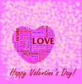 St. Valentine's Day collage Royalty Free Stock Photos