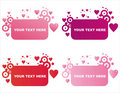 St. valentine's day frames Stock Photo
