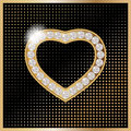 St valentine s day jelewery golden heart for Royalty Free Stock Photo