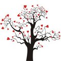 St. Valentine`s love tree Royalty Free Stock Image