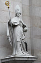 St vergilius statue at salzburg cathedral austria september on september of was an irish Royalty Free Stock Image