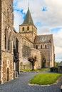 St Vigor Abbey at Cerisy-la Forêt, France. Royalty Free Stock Photo