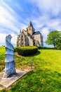 St vigor abbey at cerisy la forêt france is a french commune in the department of manche in normandy region on occupied territory Royalty Free Stock Image