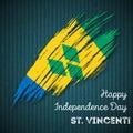 St. Vincent Independence Day Patriotic Design.