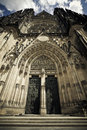 St. Vitus cathedral facade Royalty Free Stock Photo