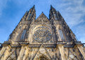 St vitus cathedral facade prague czech republic is a roman catholic in and the seat of the archbishop of is situated Stock Photography