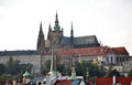 St vitus cathedral and prague castle czech republic europe Stock Photo