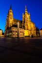 St vitus cathedral prague czech republic inside the castle coutyard landmark of built after on the orders of john of luxembourg Royalty Free Stock Image