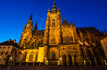 St vitus cathedral prague czech republic inside the castle coutyard landmark of built after on the orders of john of luxembourg Stock Images