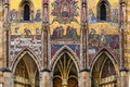 St vitus mosaic detail in prague czech republic gothic style architecture with religious hradcany cathedral Stock Photography