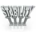 Stability Word Columns Strong Support Stock Photos