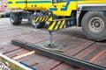 Stabilized crane Royalty Free Stock Photo