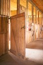 Stable inside view of old rural Stock Image