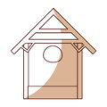Stable wood manger icon Royalty Free Stock Photo