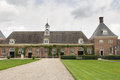 Stables building at an old dutch castle in amerongen Royalty Free Stock Photography