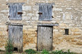 Stabling in typical old natural stone in burgundy france Royalty Free Stock Photo