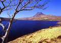 Stac Pollaidh and loch Lurgainn, Scotland Royalty Free Stock Images