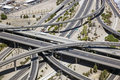 The stack aerial view of a major freeway interchange in heart of phoenix arizona called Royalty Free Stock Image