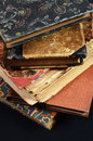 Stack antique  books Royalty Free Stock Photo