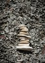 Balancing Rocks on a wall